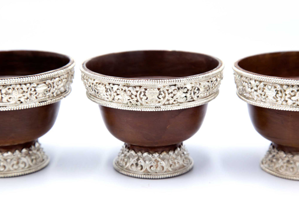 Offering Bowls - Copper with Pure Silver - 4""