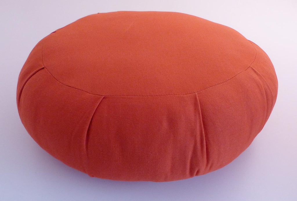 Buckwheat Orange Zafu Sitting Cushion