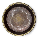 Oxidized Copper Hammered Shrine Plate - 7 inch