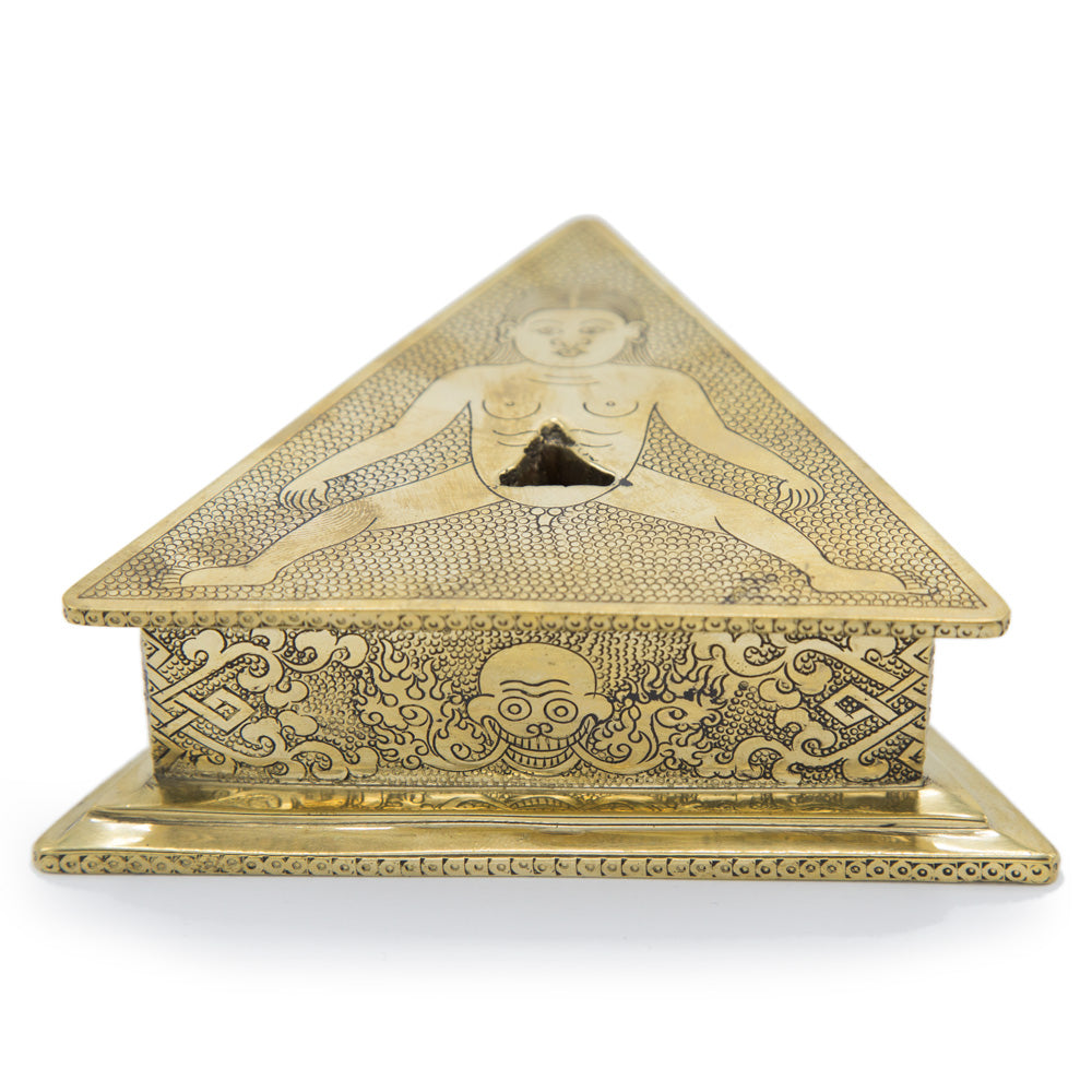 Traditional Brass Phurba Stand