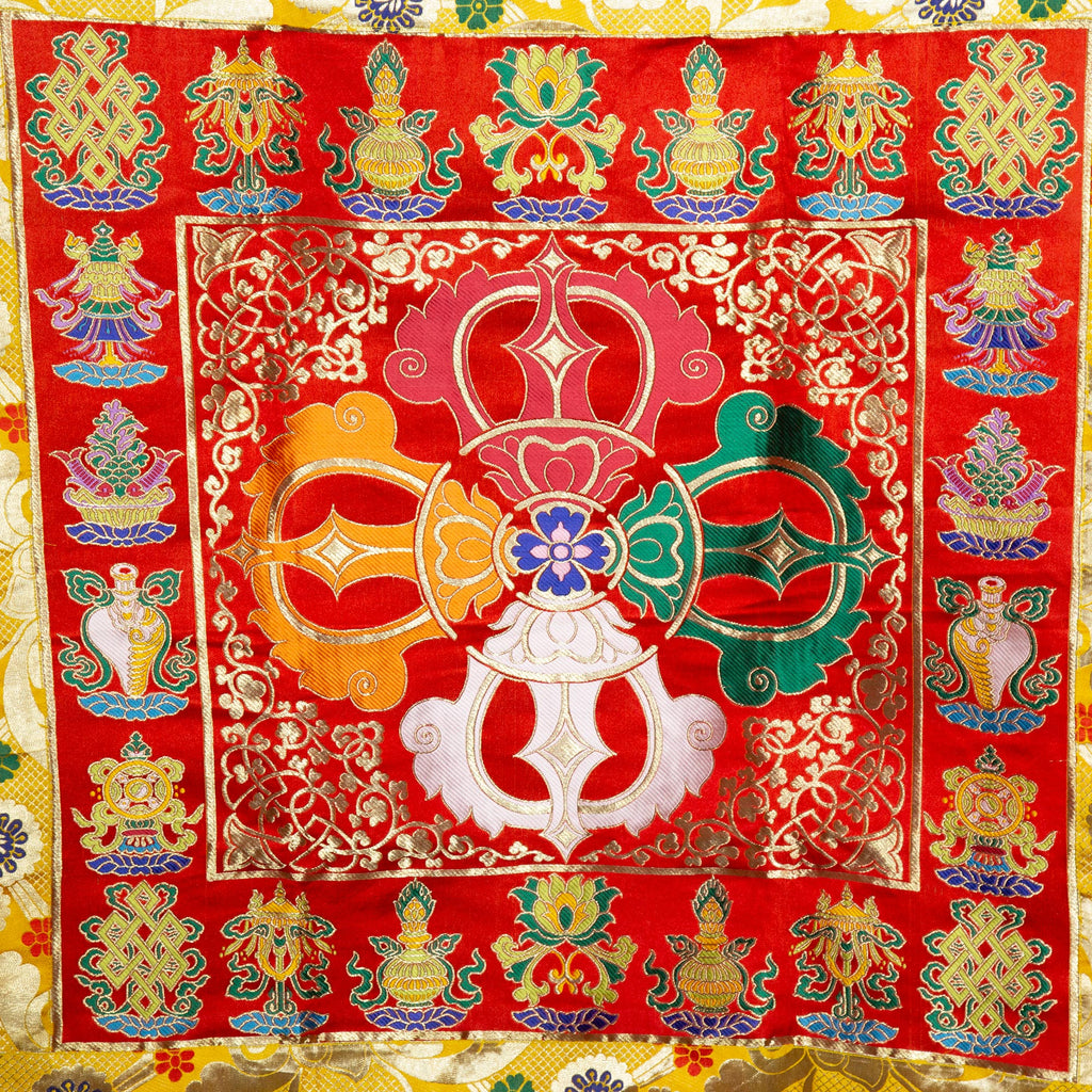 Red Double Dorje Door Curtain