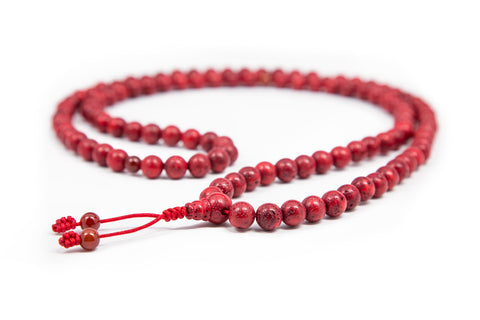 Red Lotus Seed Mala - 7-8mm