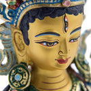 Red Tara Painted Statue - 9 inch - #1