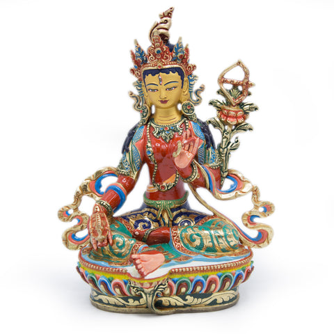 Red Tara Painted Statue - 9 inch - #2