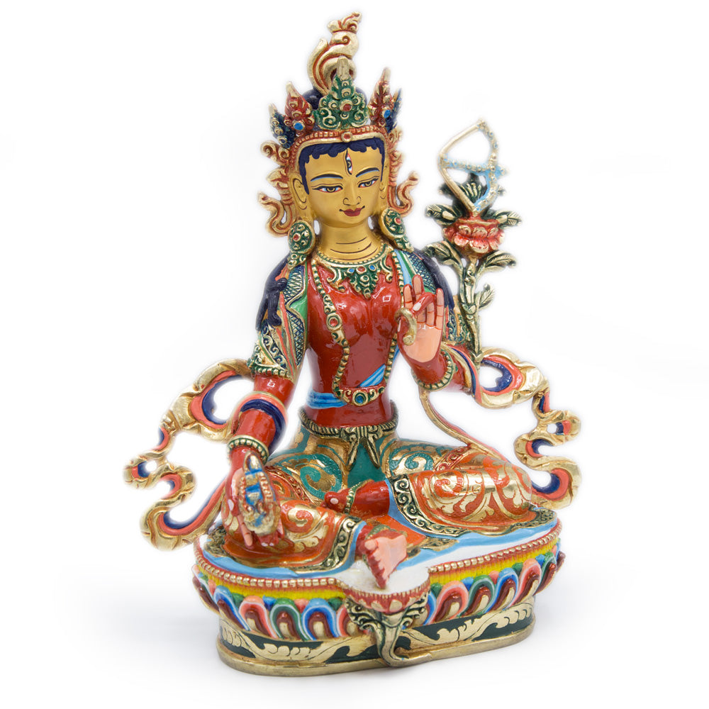 Red Tara Painted Statue - 9 inch - #3