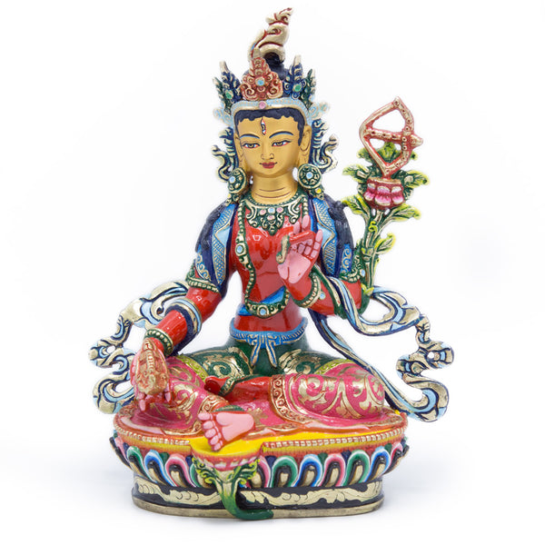 Red Tara Painted Statue - 9 inch - #5