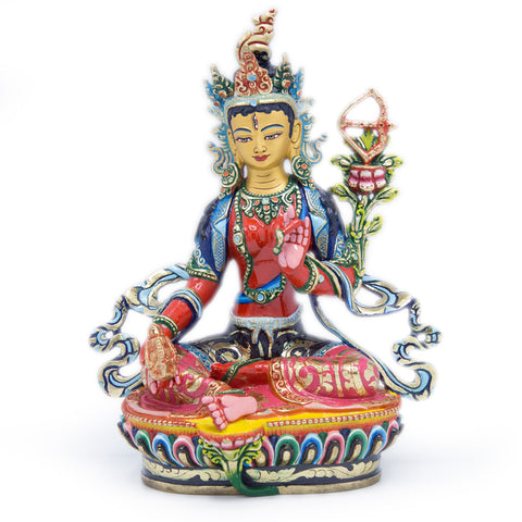 Red Tara Painted Statue - 9 inch - #7