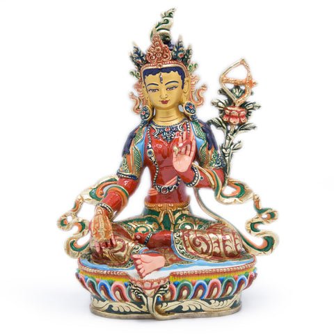 Red Tara Painted Statue - 9 inch - #8