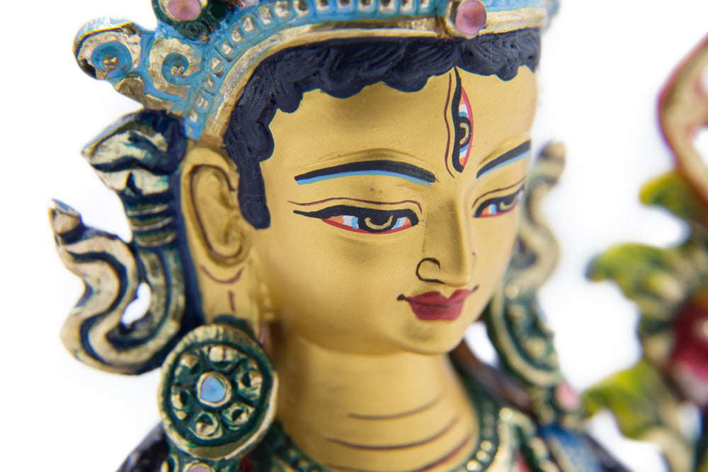 Red Tara Painted Statue - 9 inch - #9