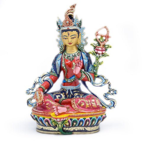 Red Tara Painted Statue - 9 inch - #10