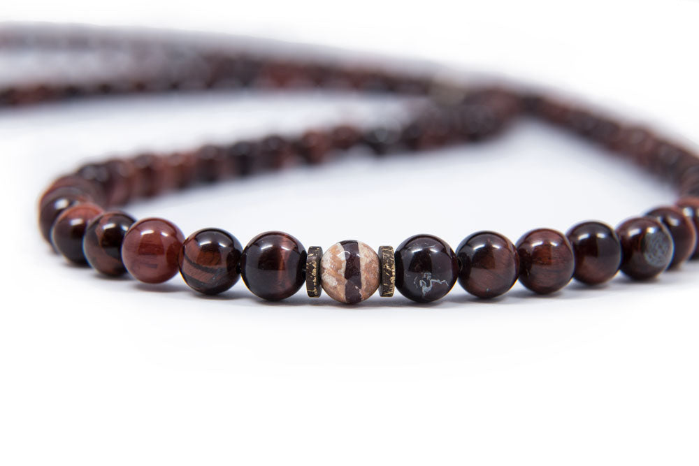 Red Tiger's Eye Mala - 8mm