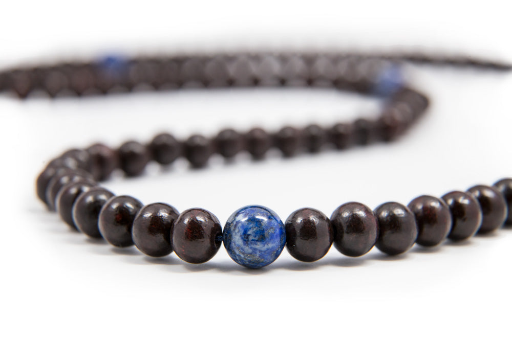 Rosewood and Lapis Mala - 8mm