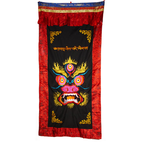 Single-faced Embroidered Wrathful Door Curtain