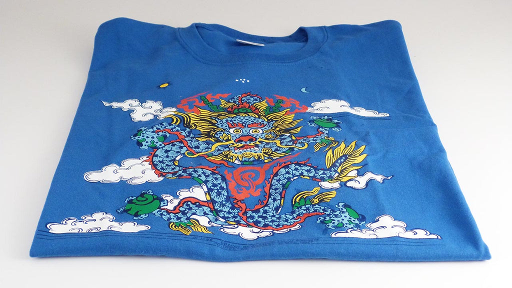 Sky Dragon Royal Blue T-Shirt - Clearance