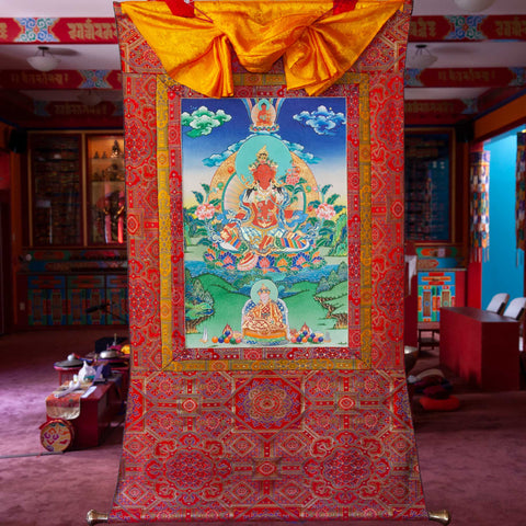 Specialty Red Tara Thangka - Medium 3