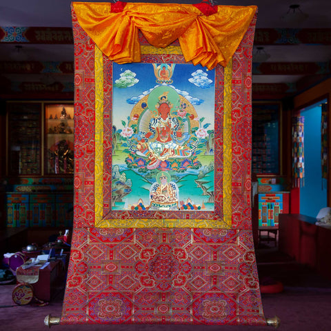 Specialty Red Tara Thangka - Medium 4