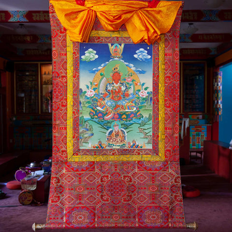 Specialty Red Tara Thangka - Medium 5