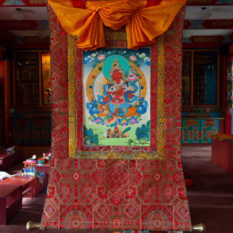 Specialty Red Tara Thangka - Small 1