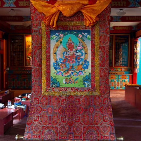 Specialty Red Tara Thangka - Small 2