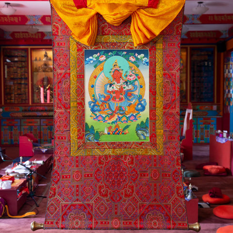 Specialty Red Tara Thangka - Small 4