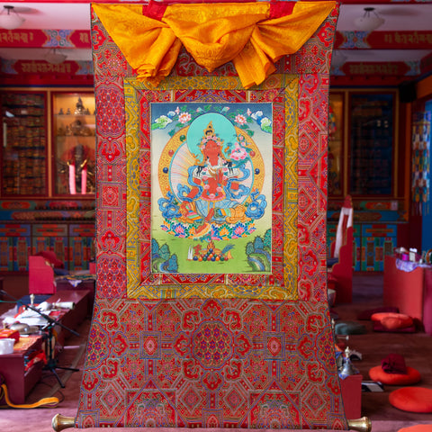 Specialty Red Tara Thangka - Small 6