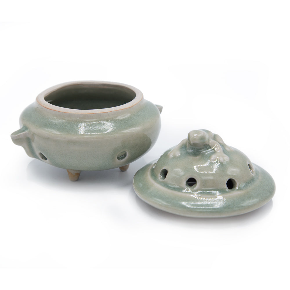 Frog Ceramic Incense Burner with Lid