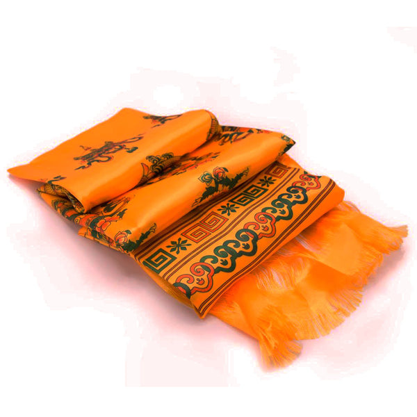 Orange Katak - 8 Auspicious Symbols - Clearance