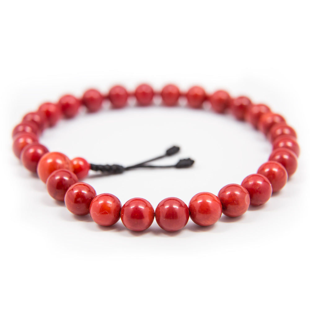 Red Coral Pocket Mala - 8mm