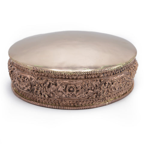 Ornate Embossed Copper Mandala Pan - 6""
