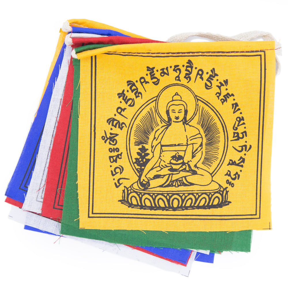 Medicine Buddha Prayer Flag - Small