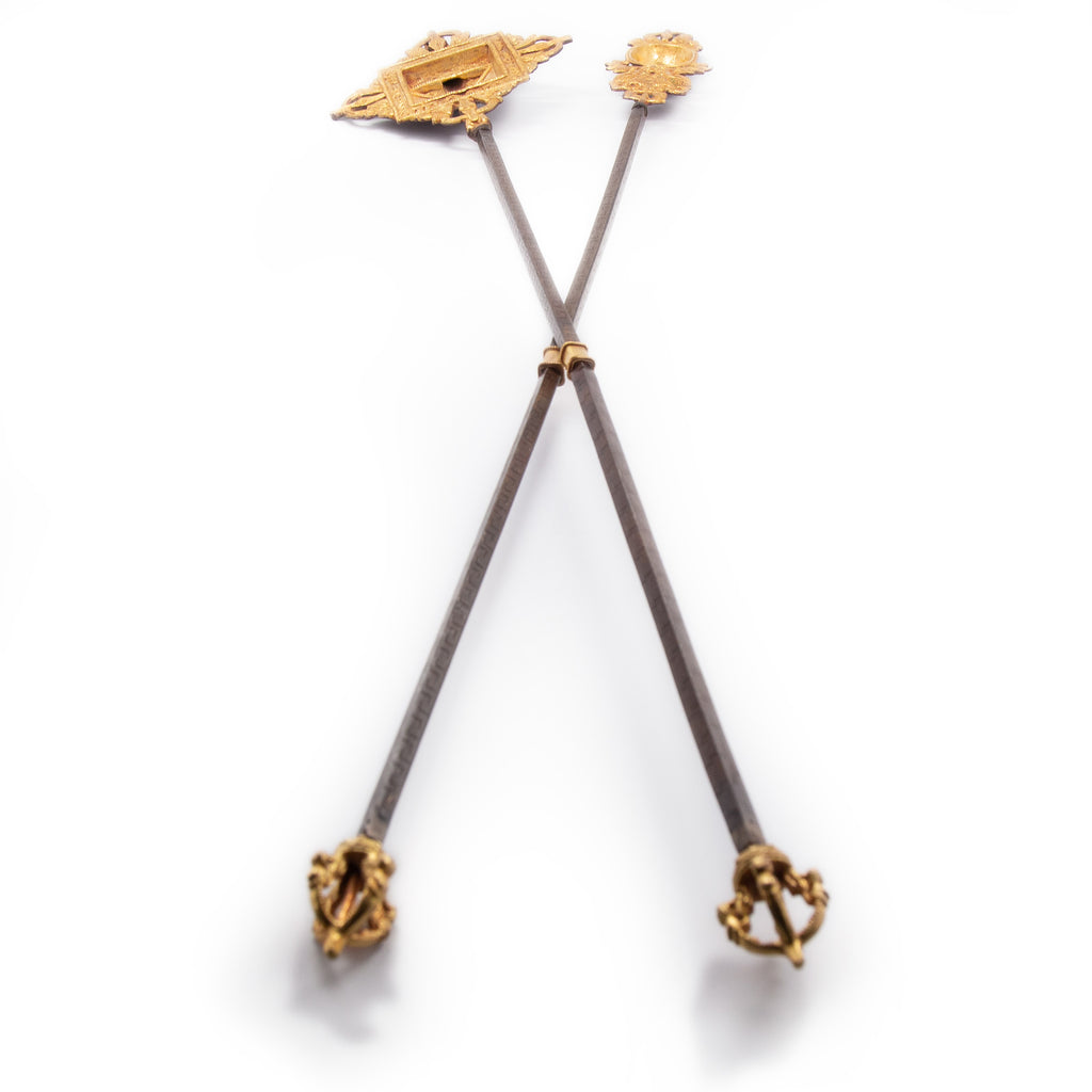 Gold Plated Fire Puja Tongs