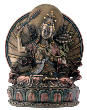 Manjushri - Cast Resin Statue 6""
