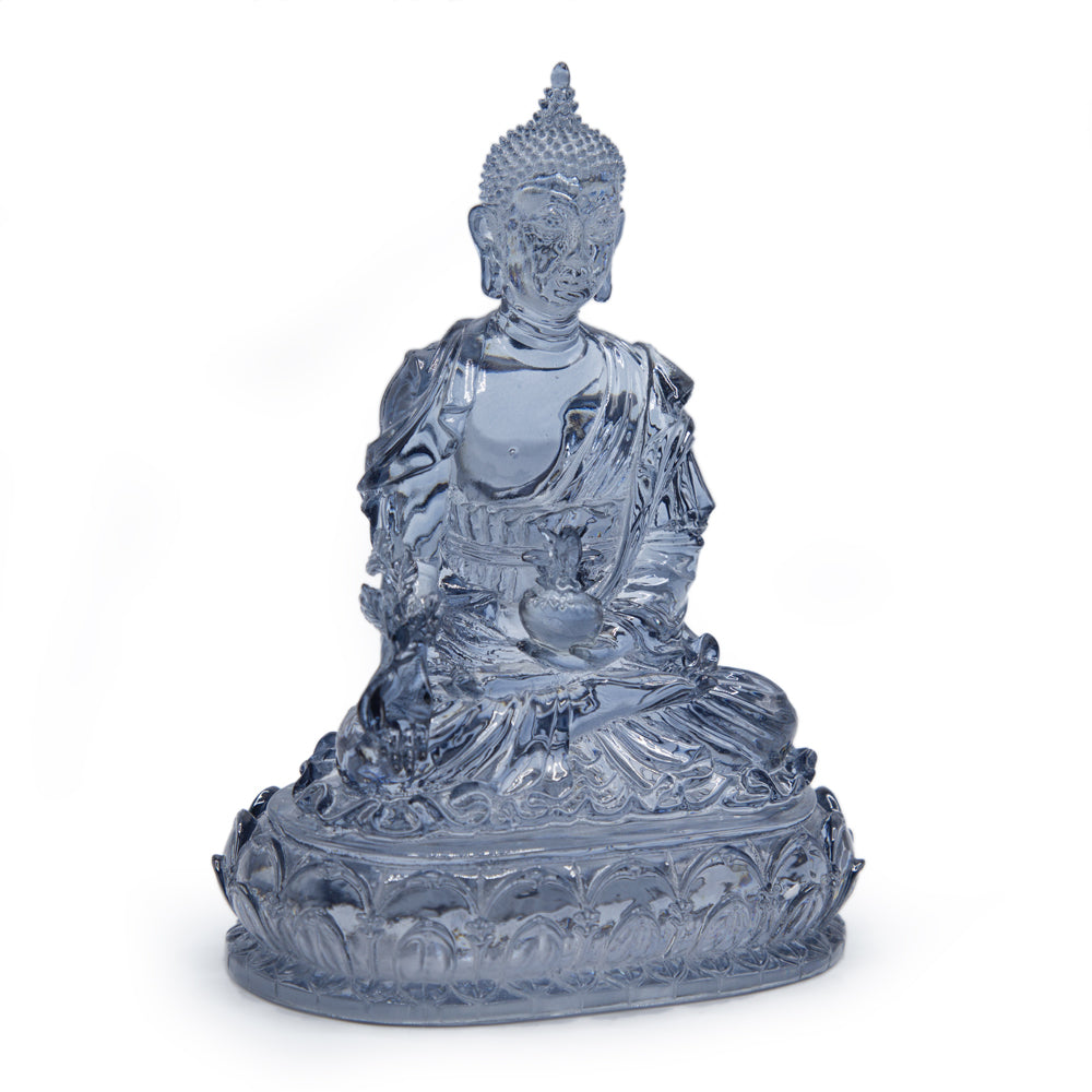 Blue Medicine Buddha - Cast Resin Statue 6""