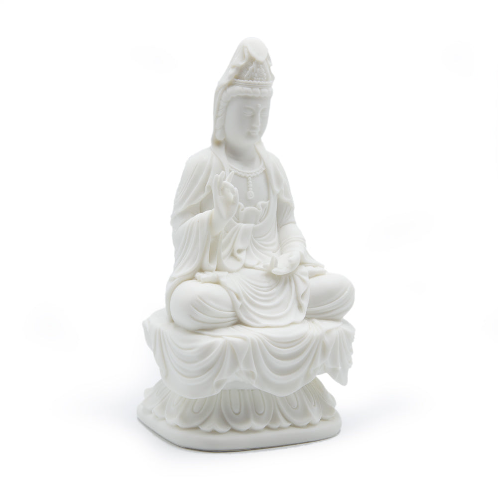 Small Kuan Yin - Cold Cast Resin 7""