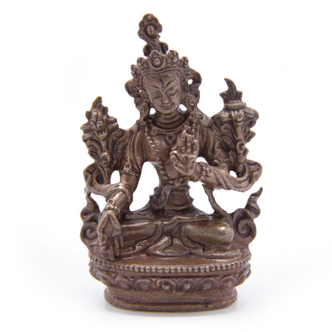 White Tara Copper Statue - Mini