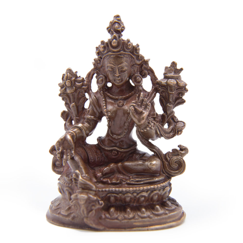 Green Tara Copper Statue - Mini