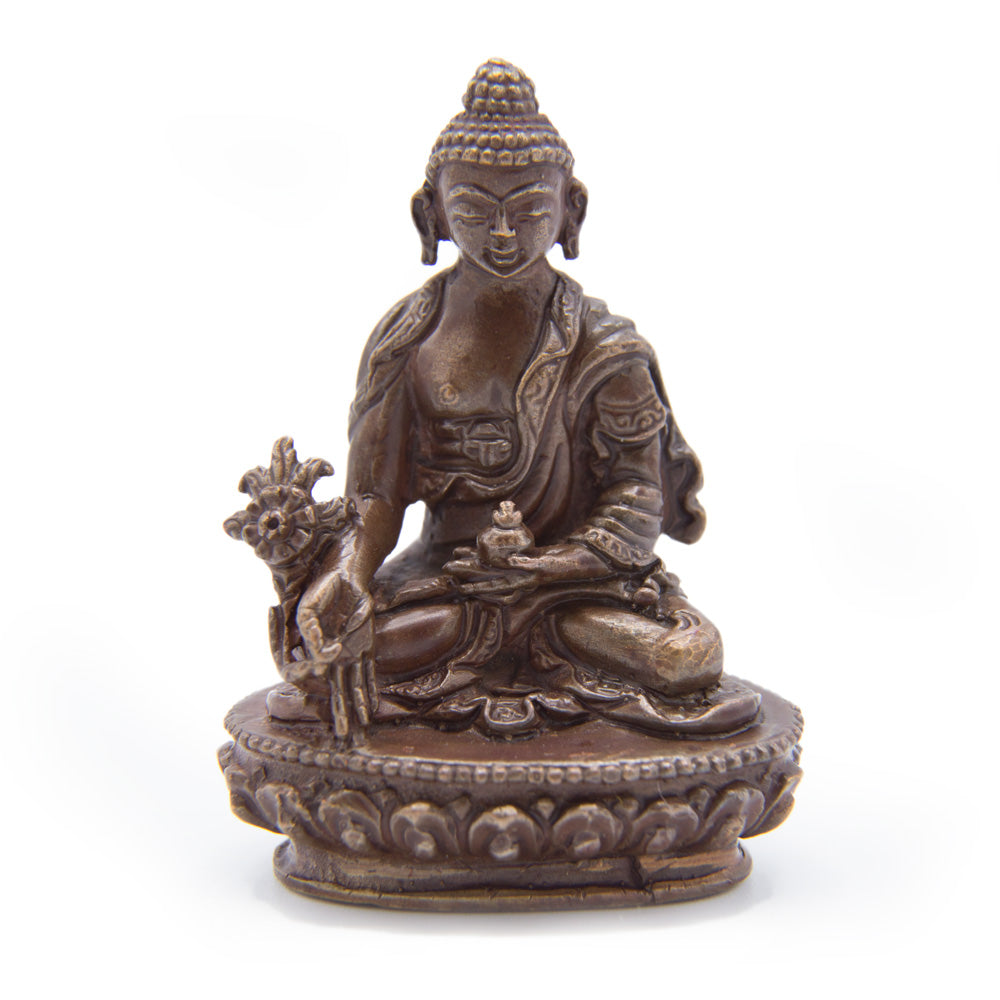 Medicine Buddha Copper Statue - Mini