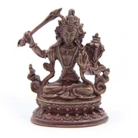 Manjushri Copper Statue - Mini
