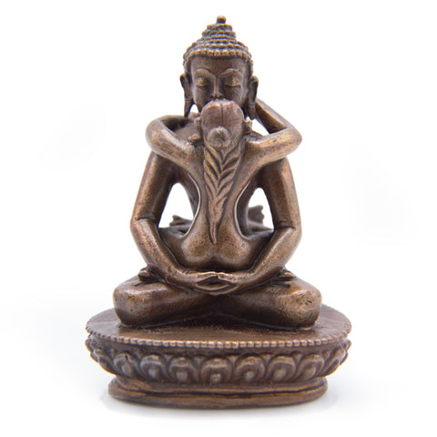 Samantabhadra & Consort Copper Statue - Mini