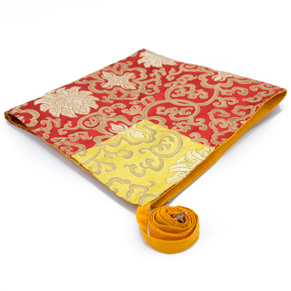 Red and Gold Flower Folding Text Cover