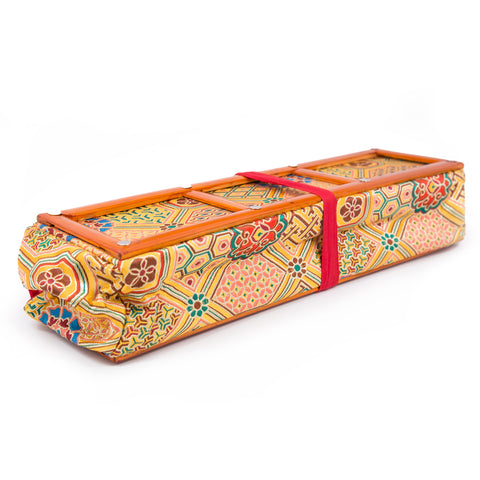 Text Holder-Large Bamboo and Khadi Brocade-Yello