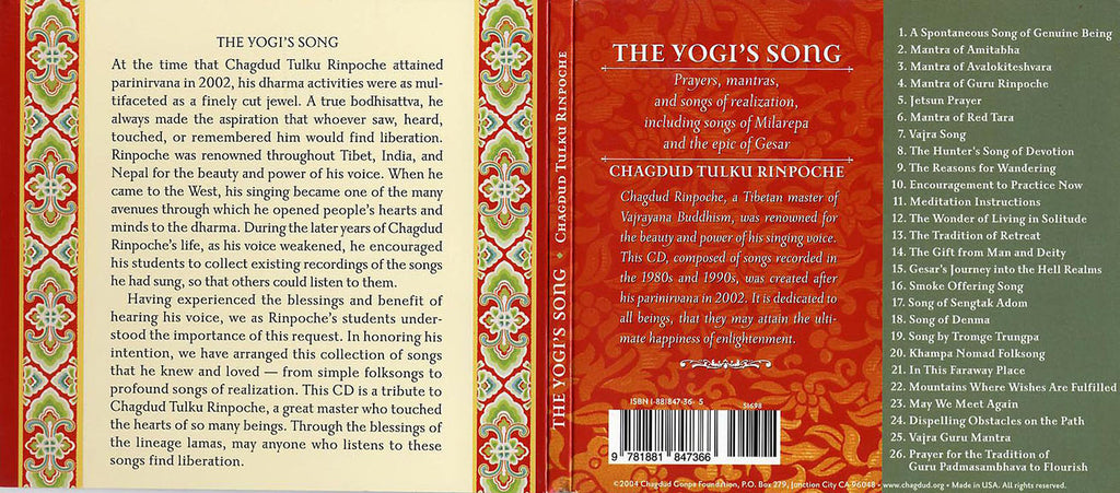 The Yogi's Song CD