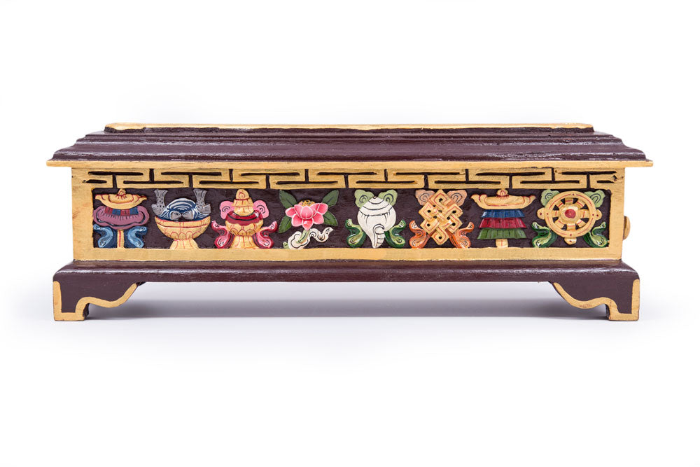 Burgundy Tibetan Incense Box - Large - Clearance