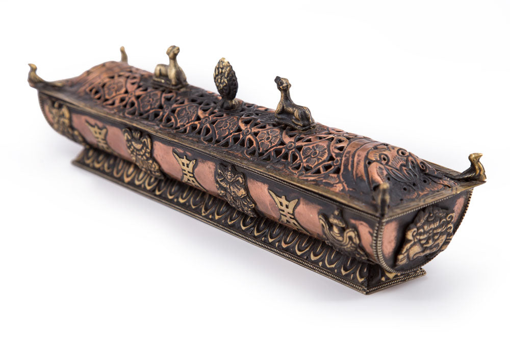 Tibetan Incense Box - Copper - Imperfect