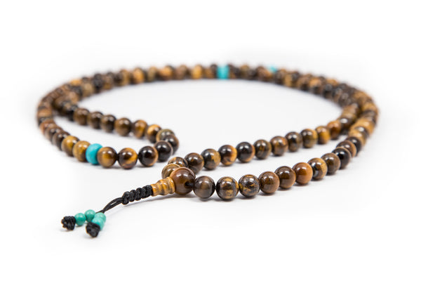 Tiger's Eye and Turquoise Mala - 8mm