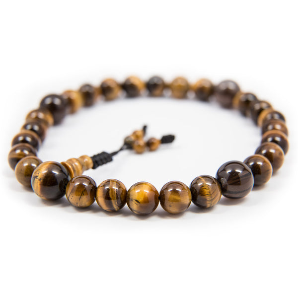 Tiger's Eye and Smoky Quartz Pocket Mala - 8mm