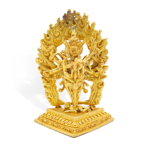 Vajrakilaya with Phurba Body - Polished Gold - Mini