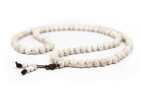 White Lotus Seed Mala - 8mm