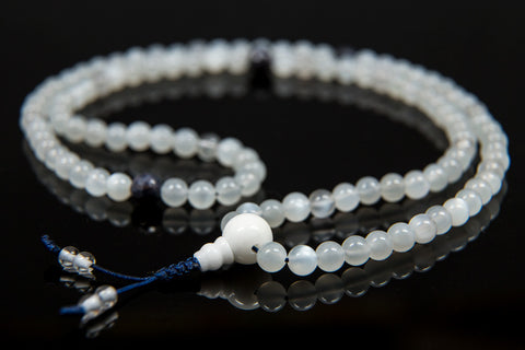 White Moonstone Mala - 6mm