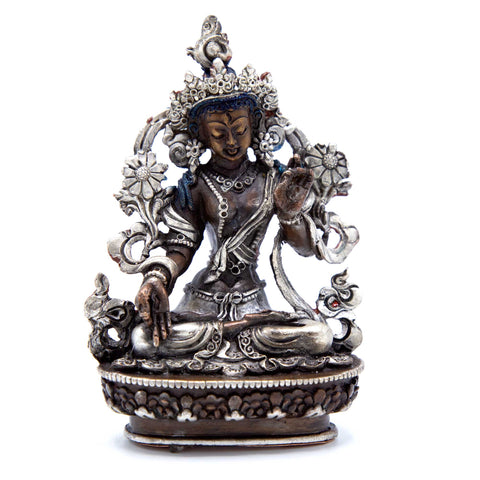 White Tara - Copper & Silver - 3""